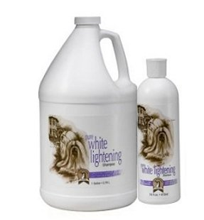 #1 All Systems Pure White Lightening Shampoo Gallon, 3,78 L - разработан для белой, кремовой, серебристой и бледно-золотистой шерсти