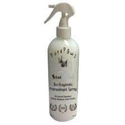 Pure Paws Bio-Enzymatic Pretreatment Spray, 473ml - iedarbojas uz jebkuriem bioloģiskas izcelsmes piesārņojumiem
