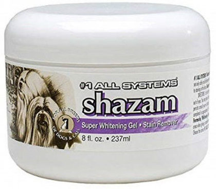 #1 All Systems Shazam Super Whitening Gel, 237 ml - efektīvi noņem traipus no asarām, urīna, ēdiena, ar balinošo efektu