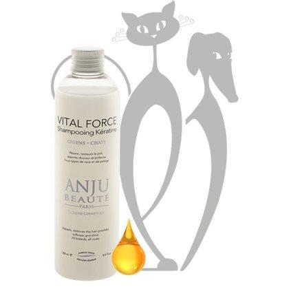 Anju Beaute Shampoo Vital Force, 250 ml - stiprinošs šampūns ar keratīnu visām šķirnēm