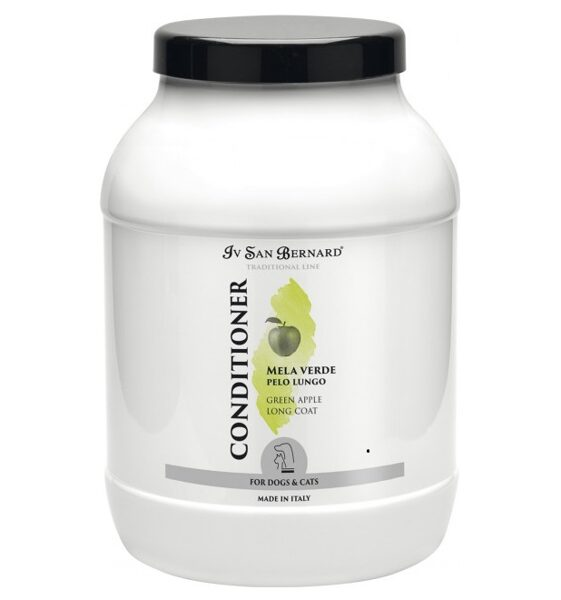 Iv San Bernard Green Apple Conditioner, 3 L - gives softness and shine to long-haired coats