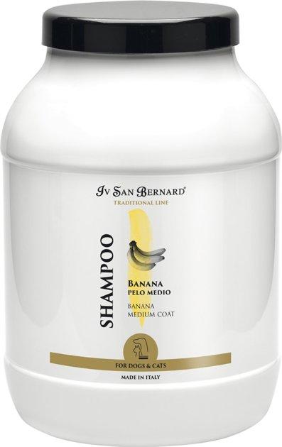 Iv San Bernard Banana Shampoo, 3 L - for medium haired pets, gives the hair elasticity, making it shiny