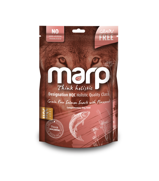 Marp Think Holistic Grain Free Salmon Snack with Flaxseed - lasis ar linsēklām, 150g