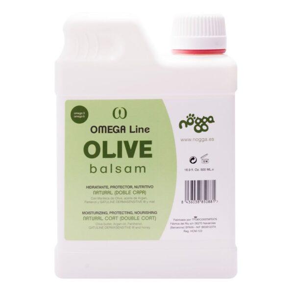Nogga Omega Line Olive Balsam, 500 ml - mitrinošs, barojošs un aizsargājošs balzams mājdzivniekiem ar dubulto kažoka tipu