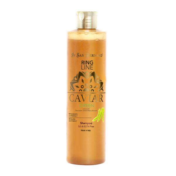 Iv San Bernard Caviar GREEN Shampoo SLS/EDTA Free, 300 ml - dzīvīgums, stiprums, atjaunošana, bez silikoniem