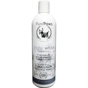 Pure Paws SLS Free Line Bright White Shampoo, 473ml - bezsulfātu šampūns maigi balina un novērš dzelteno traipu veidošanos