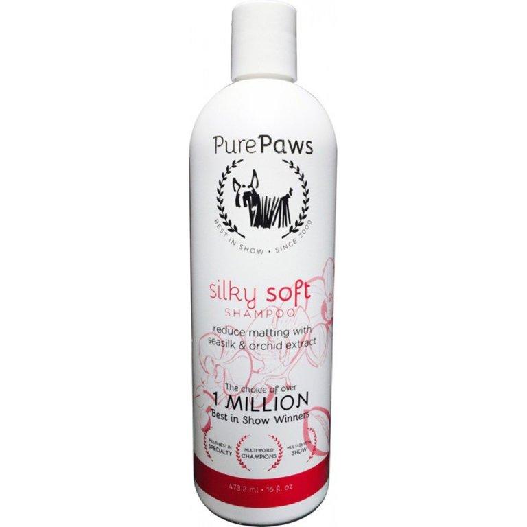 Pure Paws SLS Free Line Silky Soft Shampoo, 473ml - bezsulfatu šampūns ar zīda proteīniem garai spalvai