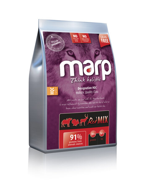 Marp Think Holistic Red Mix - Tītars, Angus liellops, Briedis, 12 kg