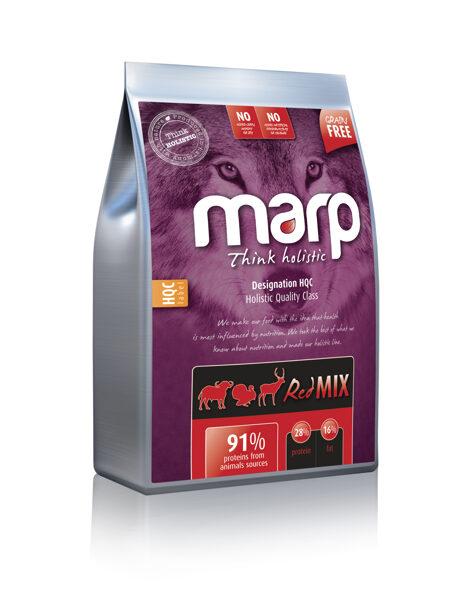 Marp Think Holistic Red Mix - Tītars, Angus liellops, Briedis, 12 kg