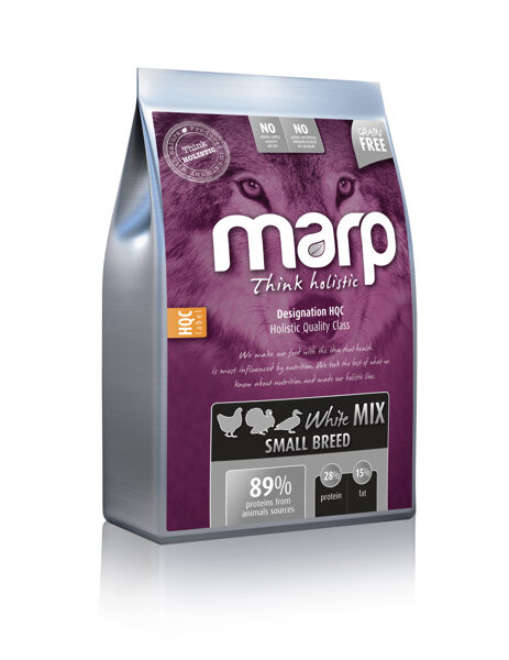 Marp Think Holistic White Mix Small Breed - Vista, Tītars, Pīle, 12 kg