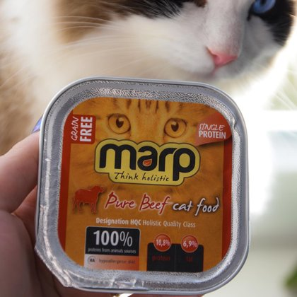 Marp Think Holistic CAT Pure Beef cans